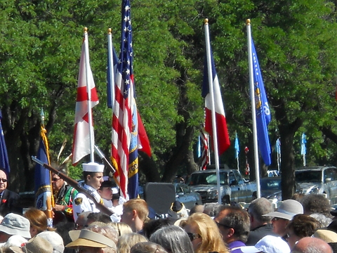 Flags and honor guard